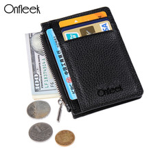Onfleek New Fashion Wallet Men Wallet Ultrathin Mini Wallet Men Purse Zipper Coins Wallet Credit Card Holders Card Case 222