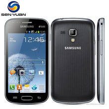 Original Samsung Galaxy S Duos S7562 cell phone 4.0''Screen 3G WIFI GPS 5MP 4GB Dual Sim mobile phone Free Shipping