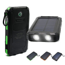 Solar Power Bank  Charger  battery Universal Portable powerbank power bank for iphone High-Capacity External Sun  solar charger