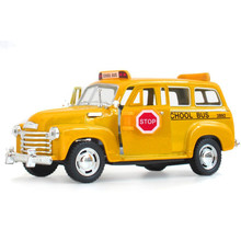 KINSMART 1:36  Alloy Diecast Models Car Toys, Classic Suburban School Bus Toy, Brinquedos Miniature Pull Back Car,Doors Openable