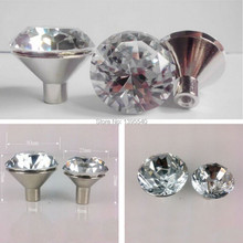 10pcs 30mm Crystal Cabinet Drawer Knobs Furniture Hardware Dresser Glass Handles Closet Wardrobe Pulls Cupboard Shoes Box Knobs