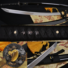 "Real Samurai Japanese Sword 100% Handmade 1060 Carbon Steel Full Tang Sharp Blade Alloy Dragon Tsuba Genuine Rayskin Katana 41""(China)"