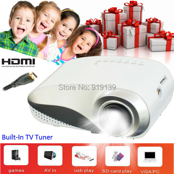 AliExpress Sale Cheap Cost Mini Projector Portable LED Video Projecteur TV Tuner HDMI Beamer USB SD Game Proyector 480x320pixels<br><br>Aliexpress