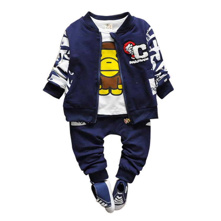 3 pcs Baby Boy Clothes Spring Autumn Fashion Cartoon Little Monkey Children Kids Boys Clothing Set 2017 New Arrival T217<br><br>Aliexpress