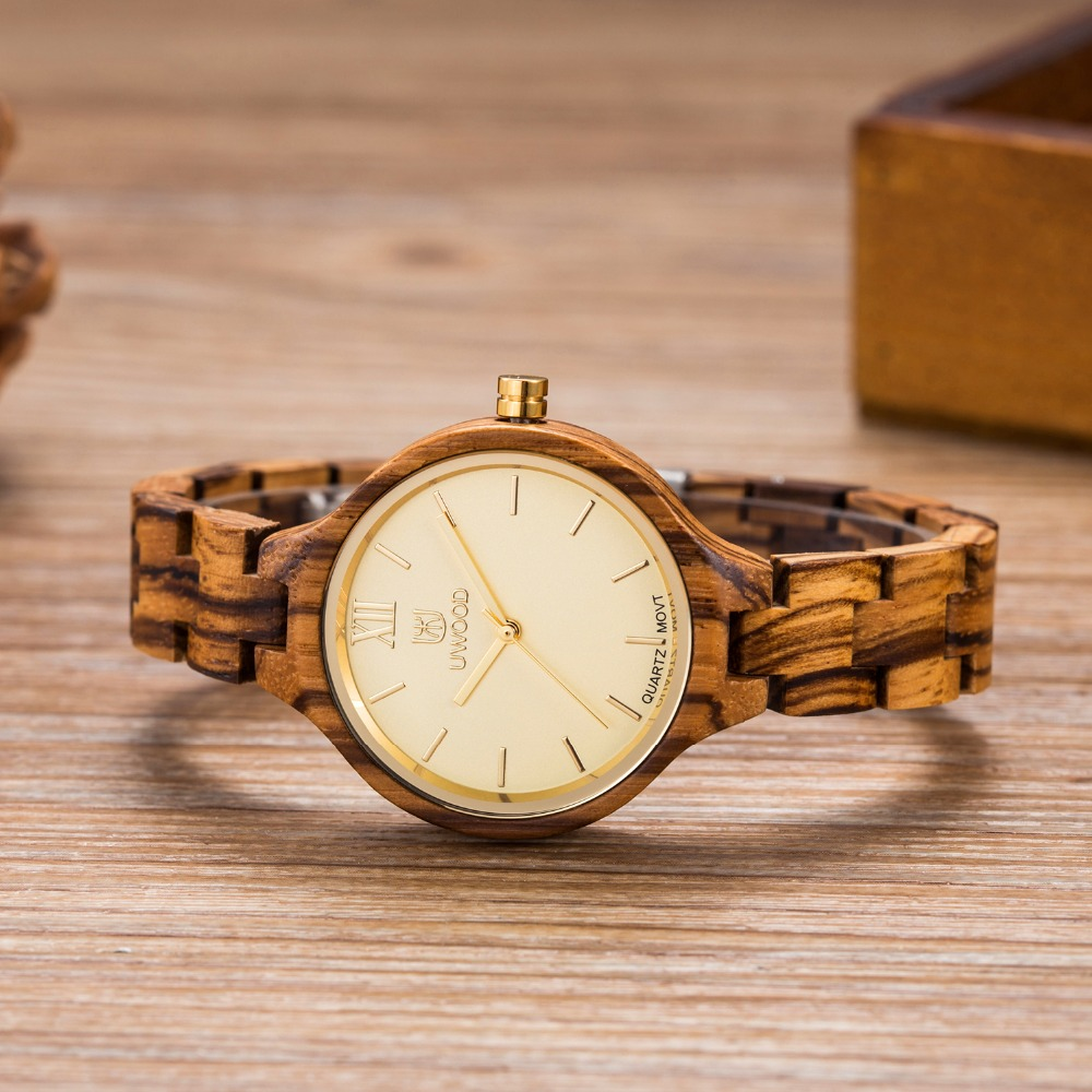 UWOOD Wood Watch Women Top Brand Luxury Lightweight Natural Wooden Women Fashion Wrist Watch Ladies Quartz-Watch Relojes Mujer<br>