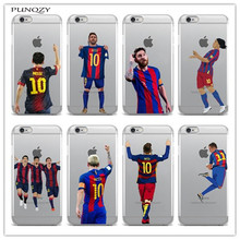 Sport Football Soccer Star Messi Case For iphone 6 6S 7 7Plus 5 5S SE 4 4S 5C transparent soft Silicone Mobile phone shell cover(China)