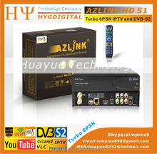 1pc Original AZLINK HD S1 FTA VLC media player and DVB-S2 support wifi and PVR with Turbo LS500 8PSK Turner LINUX IPTV Receiver