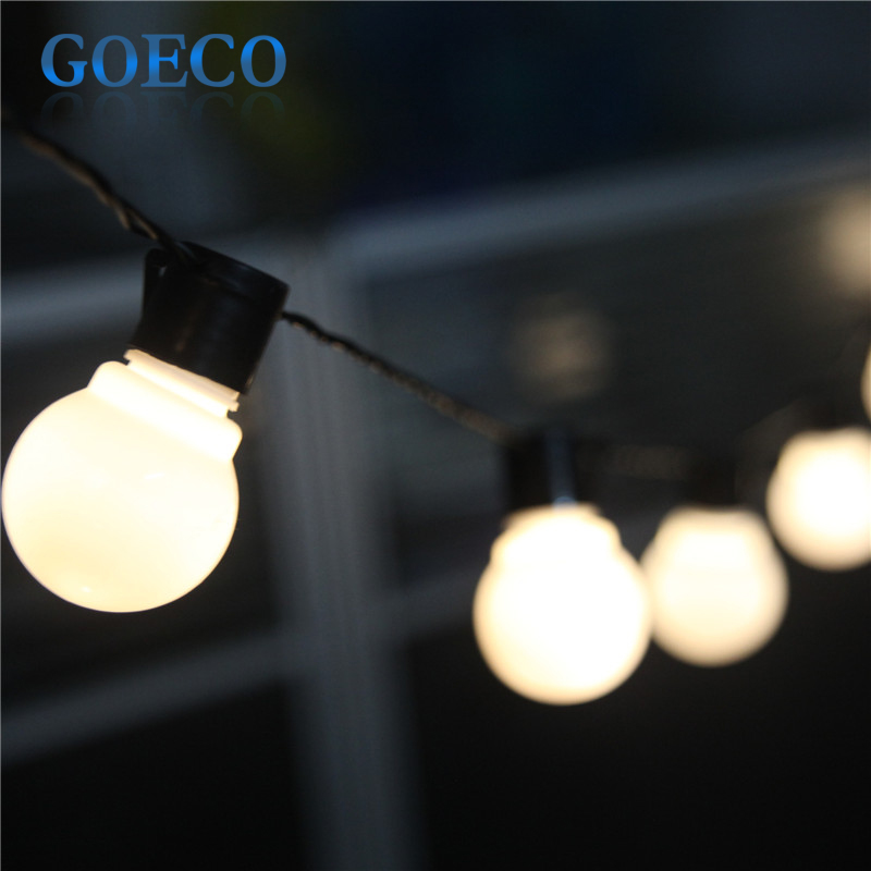 5M 20LED Clear G45 Globe Connectable Plug-in Festoon Party String Lights Wedding/Chirstmas Decor Patio Fairy Lights Garland Led<br><br>Aliexpress