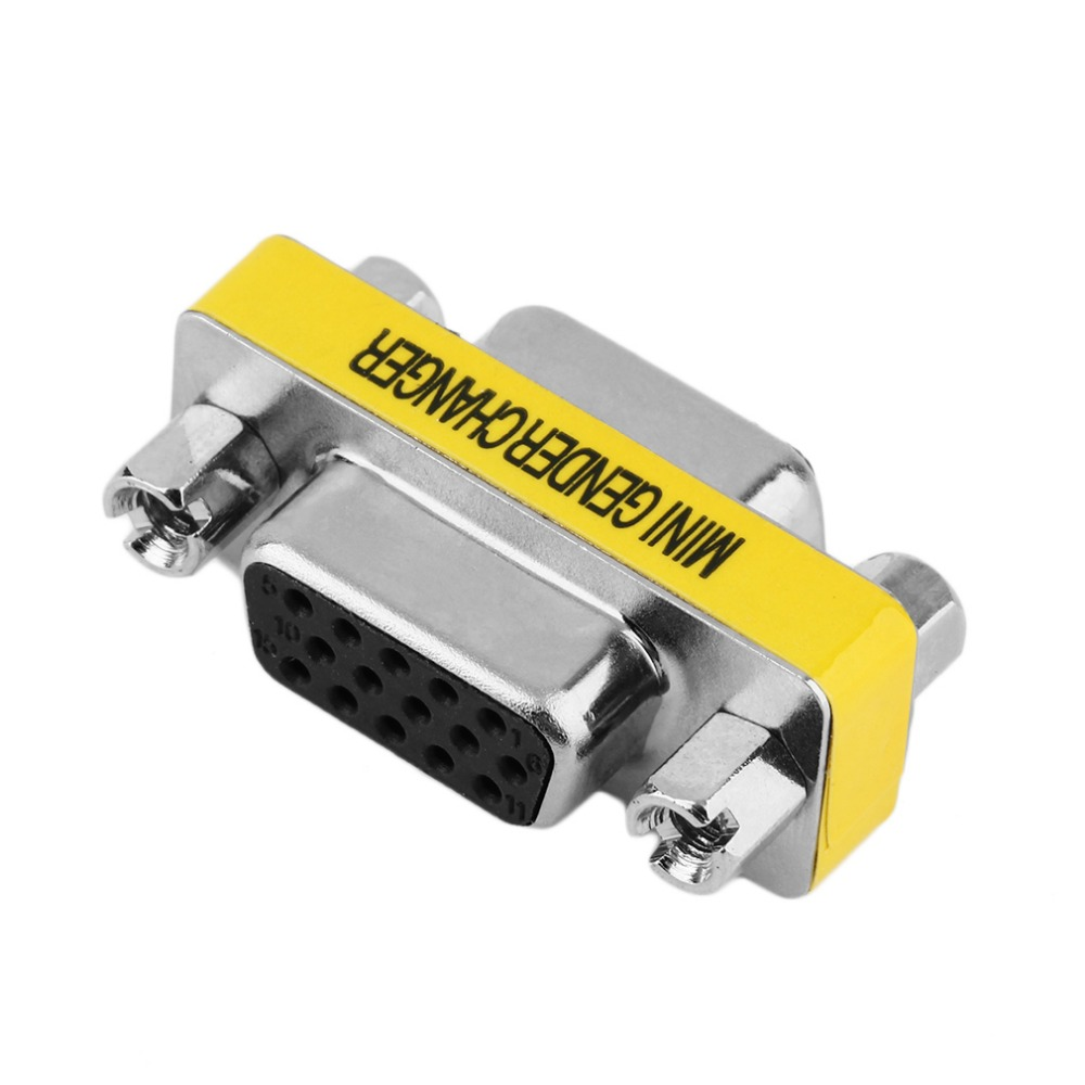 Wholesale 1pc/ 5pcs/10pcs New Female to Female VGA HD15 Pin Gender Changer Convertor Adapter In stock