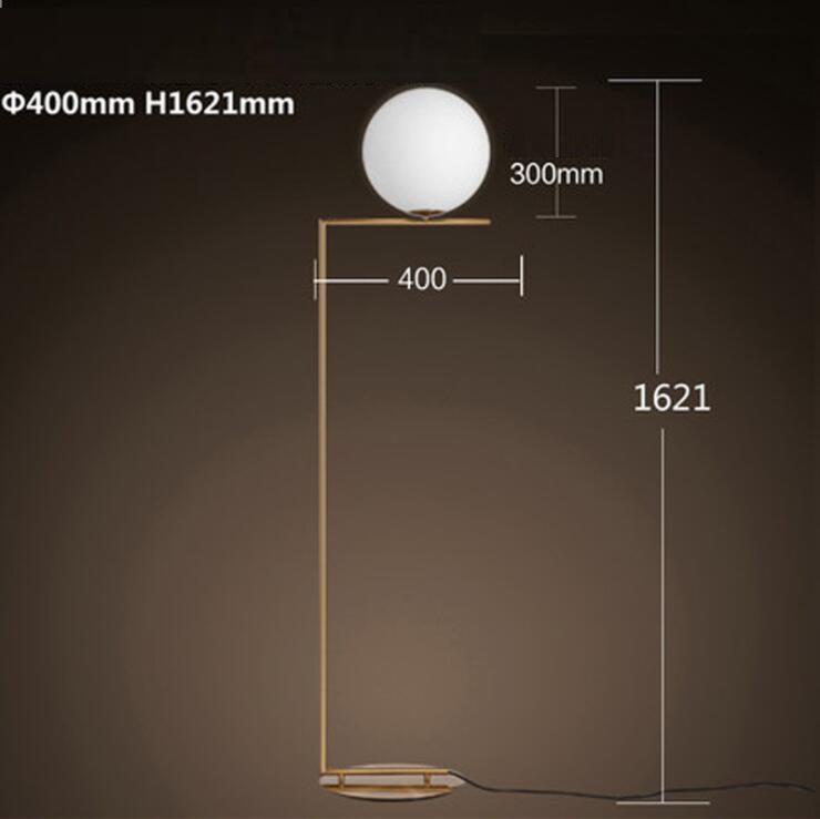 Modern LED Floor Lamp Floor Light Shade Glass Ball Standing Lamp for Bedroom Living Room Gold Designs (1)