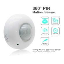 Sensky 110v 220v High quality 360 degree high sensitivity Ceiling PIR motion Sensor switch for led lighting  (ET037)