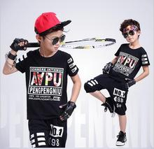 2017 new summer style fashion 100% Cotton brand tennis wear t-shirt with half pants boys sport clothes suits Kids clothing set