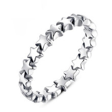 SHUANGR Star Trail Stackable Finger Ring For Women Wedding Silver Color Jewelry 2017 New Collection