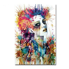 Magic Girl Decorative Pictures Abstract Siren Women Wall Art Painting 1Pc Unframed Cuadros Decoracion Infantiles Christmas Gift(China)
