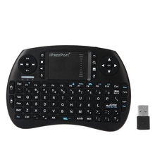 iPazzPort KP - 810 - 21S 2.4GHz RF Wireless Multifunctional Hand-held Keyboard Touchpad English/Spainish Version for PC
