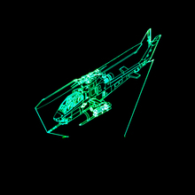 Worldwide Drop Ship 3D Lamps with Airplane Helicopter Small Aircraft 3D Night Lights 7 Colors Change for Home Bedroom Kids Gifts