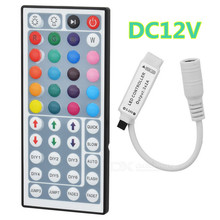DC5V 12V mini RF wireless RGB LED controller wireless SMD 5050 3528 2835 led light bar white and 24 keys 44 key