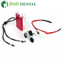 Dental Loupes Dental Glasses 3.5X 420mm + LED Head Light Lamp Portable Dental Equipment Surgical Medical CE Proved SL703