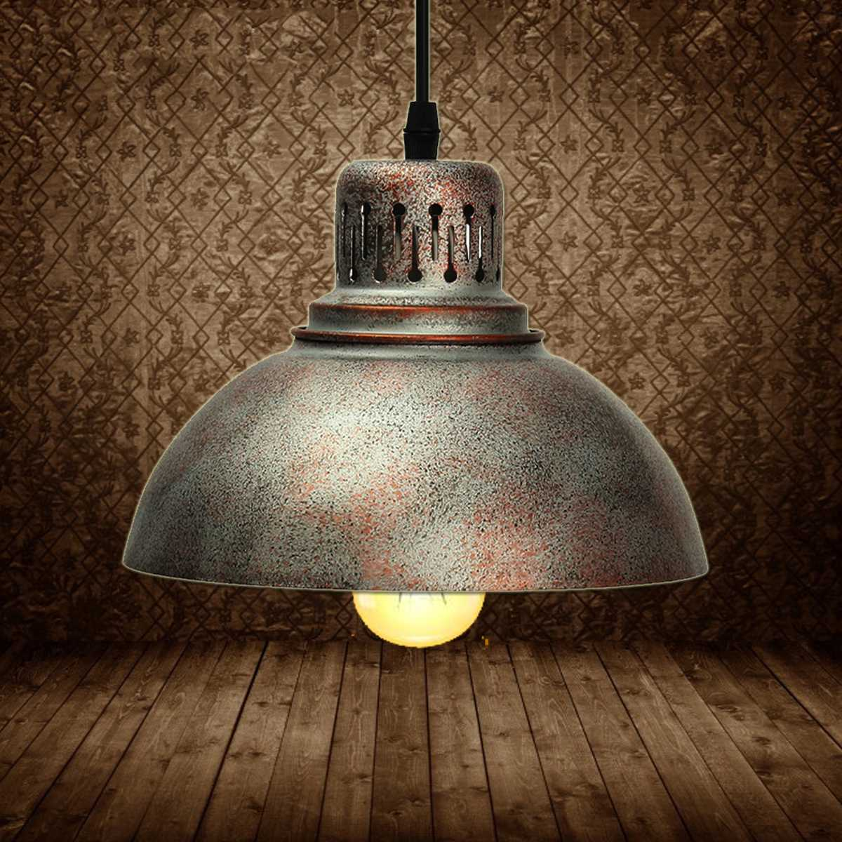Industrial Vintage Pendant Lights Hanging E27 Iron Lampshade Night Lamp Fixture Loft Bar Living Room Home Decor Novelty Lighting<br>