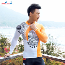 Korean Style Diving Surfing Suit Moisture Body Jacket Men's Breathable Dry Beach Volleyball Sunscreen Clothing Free Shipping