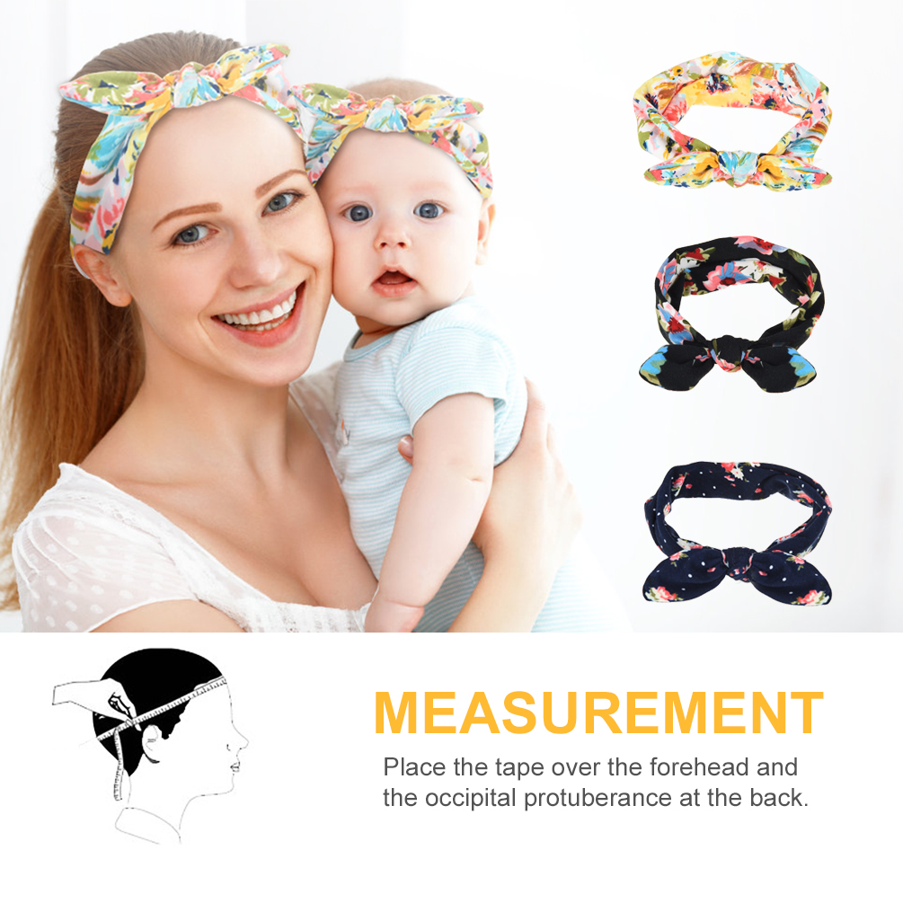 a9deb58238f UNISTYLE Baby Mom Printing Headband Stretchy Baby Hat Knotted Head ...
