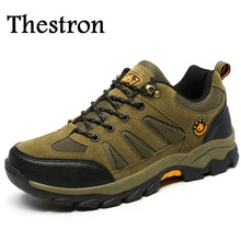 Thestron Trekking Shoes Men High Quality Mens Walking Shoes Winter Mens Mountain Trainers Rubber Leather Sport Shoes For Men