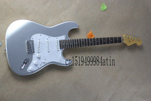 Free Shipping New Arrival Hot Guitar Stratocaster Custom Shop Silver Color Electric Guitar In Stock @9(China)