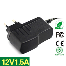 DHL/Fedex 200PCS Power Adapter Wireless ADSL Router 12V1.5A Switching EU Plug Power Adapter