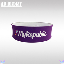 10ft*3.3ft Exhibition Booth Advertising Tension Fabric Circle Hanging Banner Display Stand With Full Color Printing