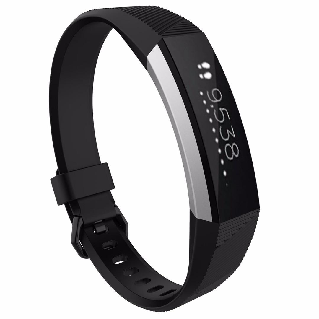 Replacement Wristband Strap Bracelet Sports Soft Silicone Wrist Strap For Fitbit Alta HR Wrist Smartband