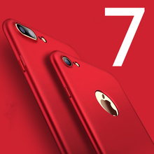 luxury matte red back cases for iphone 5 5s se 6 6s plus case cover plastic Frosted Hard Scrub Back Cover for iphone 7 7 plus