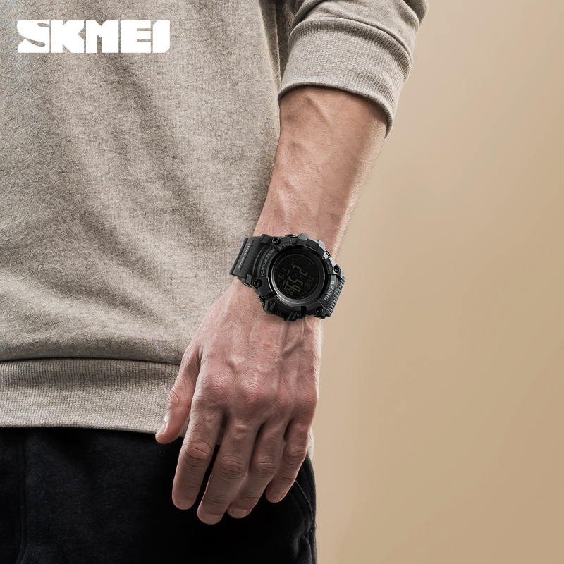 New Men Sports Watches SKMEI Brand Pressure Compass Watch Alarm Chrono Digital Wristwatches 30M Waterproof Relogio Masculino