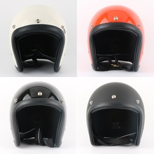 Motorcycle Helmet Brand Japan style Glass Fiber Vintage motorcycle helmet Harley Motorbike open face half small jet helmet PS(China)