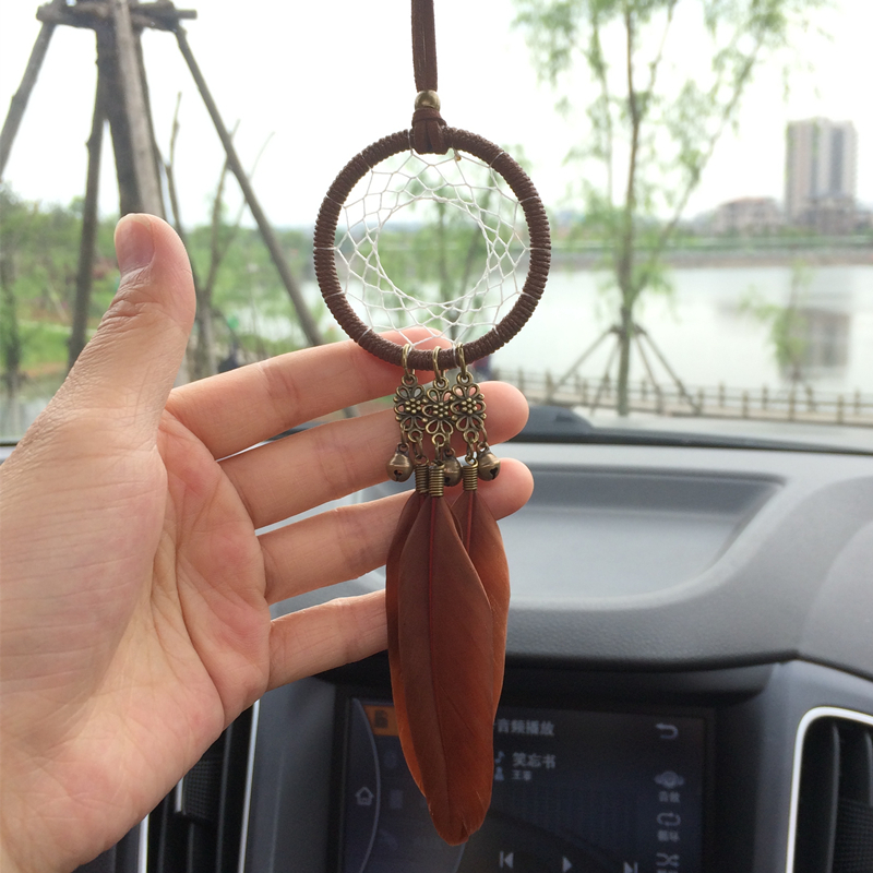40pairslot Free Shipping Black Red And Blue Feather Earring Indian Cool Dream Catcher To Hang In Car