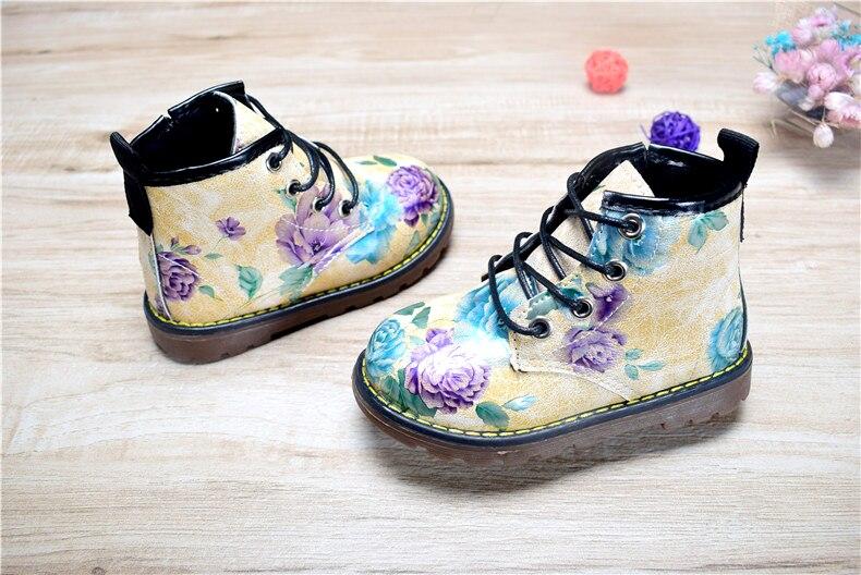 Lillelised Dr. Martensi stiilis saapad