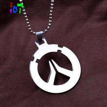 Buy Hot Game Overwatch Stainless steel Round bead chain Necklace Pendant Necklaces Unisex jewelry Cosplay Accessories keychain gift for $1.33 in AliExpress store