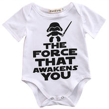 New HOT Newborn Star Wars Baby unisex short sleeves Clothes Cotton Cotton Bodysuit Playsuit Sunsuit Outfits(China)