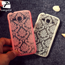 Phone Covers Cases For Samsung Galaxy Ace III 3 S7270 S7272 Vintage Flower Plastic Bag Shell ACE3 S7275 S7278 AceIII Case Cover