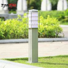 New S-6028 Stainless Steel Grass Lamp Landscape Lawn Sward Garden Outdoor Garden Lawn Square Pillar Post Light Bollard Lamp 30CM(China)