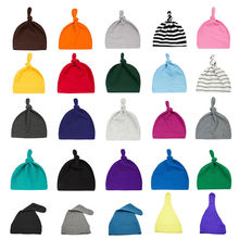 Newborn Baby Hat Kids Hats Children BabyCaps Cotton Unisex Girls Boys Hats Photography Candy Color Beanies Accessories