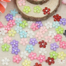 50pcs/lot  flat back resin  kawaii resin flower for  kids home clothing shoes resin cabochons