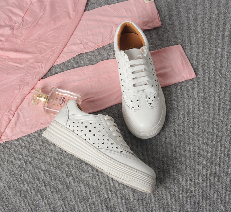 17 Women White Shoes Autumn Winter Soft Comfortable Casual Shoes Flats Platform Sneakers Real Leather Shoes Sapato Feminino 18