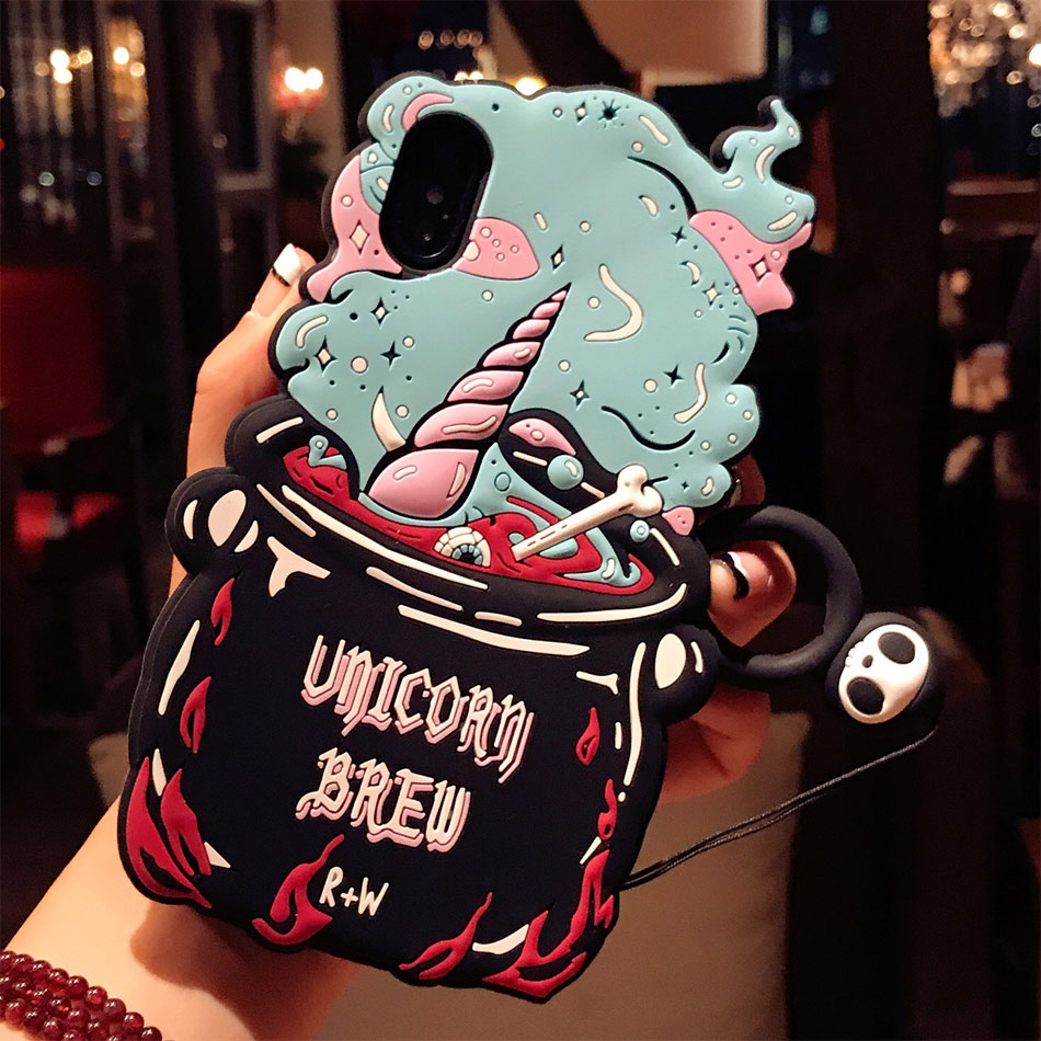DOEES 3D Cute Love Potion Unicorn Brew Soft Silicone Phone Bag Case Cover Skin For iPhone 6 6S Plus 7 Plus 8 Plus X Fundas (7)