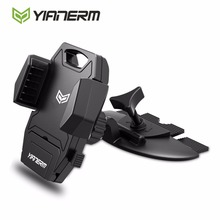 Yianerm CD Slot Mount Car Phone Holder With Release Button Armor Cradle For iPhone 7 Plus 6S 5s SE,Samsung S8 S7 edge,Nexus 6P(China)