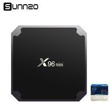 2017 New Android 7.1.2 TV BOX X96mini Amlogic S905W Quad Core 1+ 8GB ROM Fully Loaded Kodi 17.3 Smart netflix Set-top Box 4K(China)