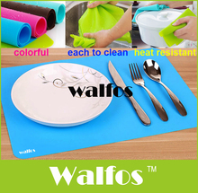 WALFOS 1 piece square silicone placemat dining table place mat -heat resistant silicone table silicone mat baking mat pot holder