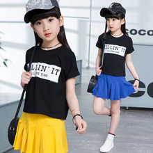 Teenager Girls Cotton Short Sleeve T-shirt + Tennis Shorts 2017 Summer Children Clothing Sets Baby Girls Clothes 3-12 Years Old