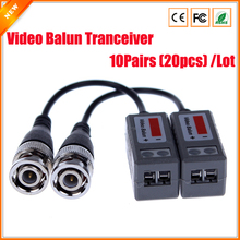 10Pairs CCTV Accessories CCTV Video Balun Transceiver Twisted BNC Passive Transceivers UTP Balun BNC Cat5 CCTV UTP Video Balun(China)