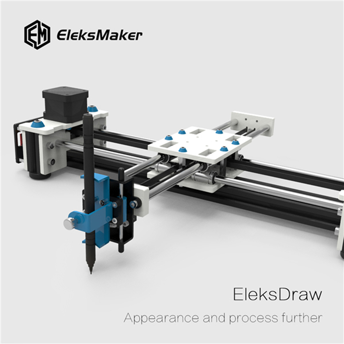 EleksMaker EleksDraw Mini XY 2 Axis CNC Pen Plotter DIY Laser Drawing Machine(China)