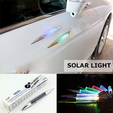 Magnet Decal Sticker Solar Car Alarm Led Light Security System Warning Theft Flash Blinking Car Styling(China)